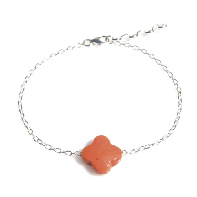 BRACELET TREFLE ORANGE